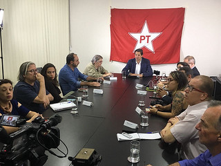 Haddad, a former minister of Education and now presidential candidate, took part in press conference at the Lula Institute in São Paulo - Créditos: Handout/Instituto Lula