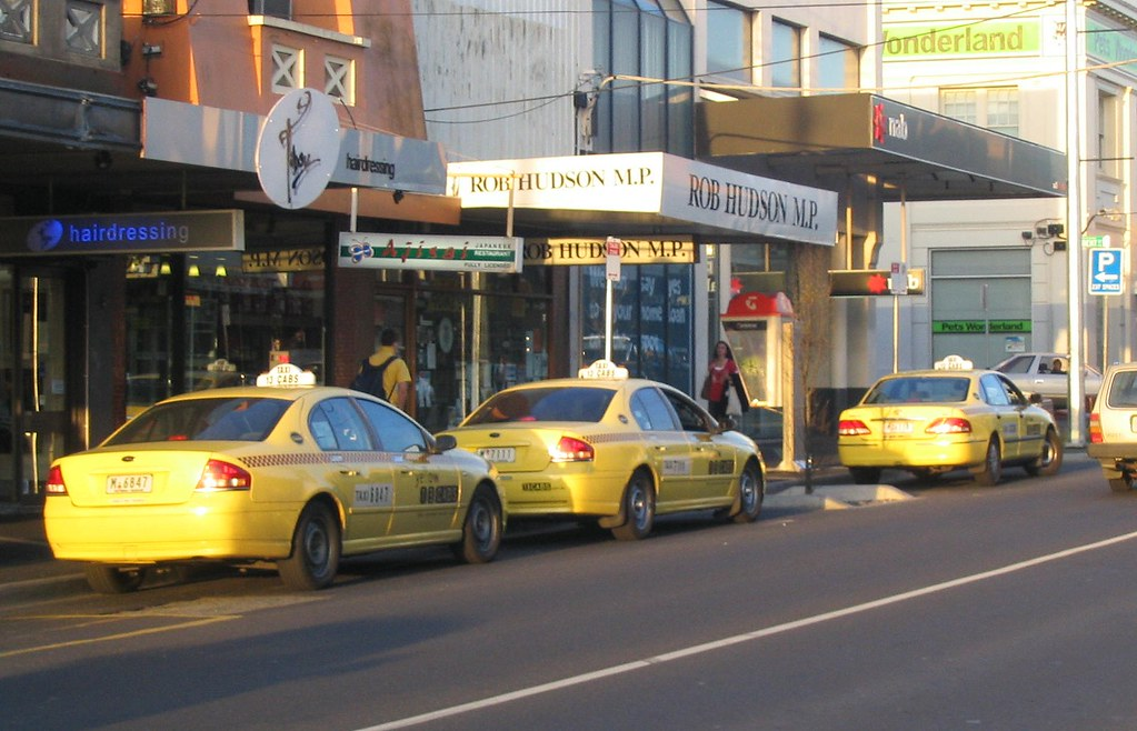 Bentleigh station taxi rank, September 2008