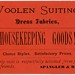 Woolen Suitings, Dress Fabrics, Housekeeping Goods! Spangler and Rich, Marietta, Pa. by Alan Mays
