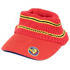 The Bulldog Amsterdam - Red Knit Visor Cap