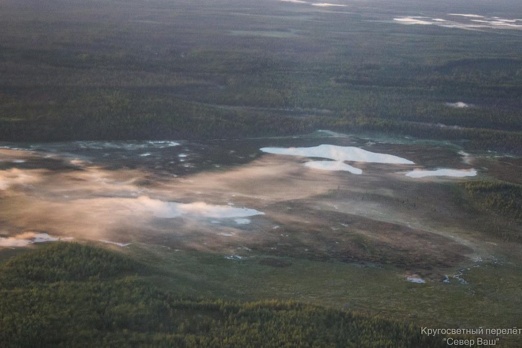 утренние туманы над озёрами