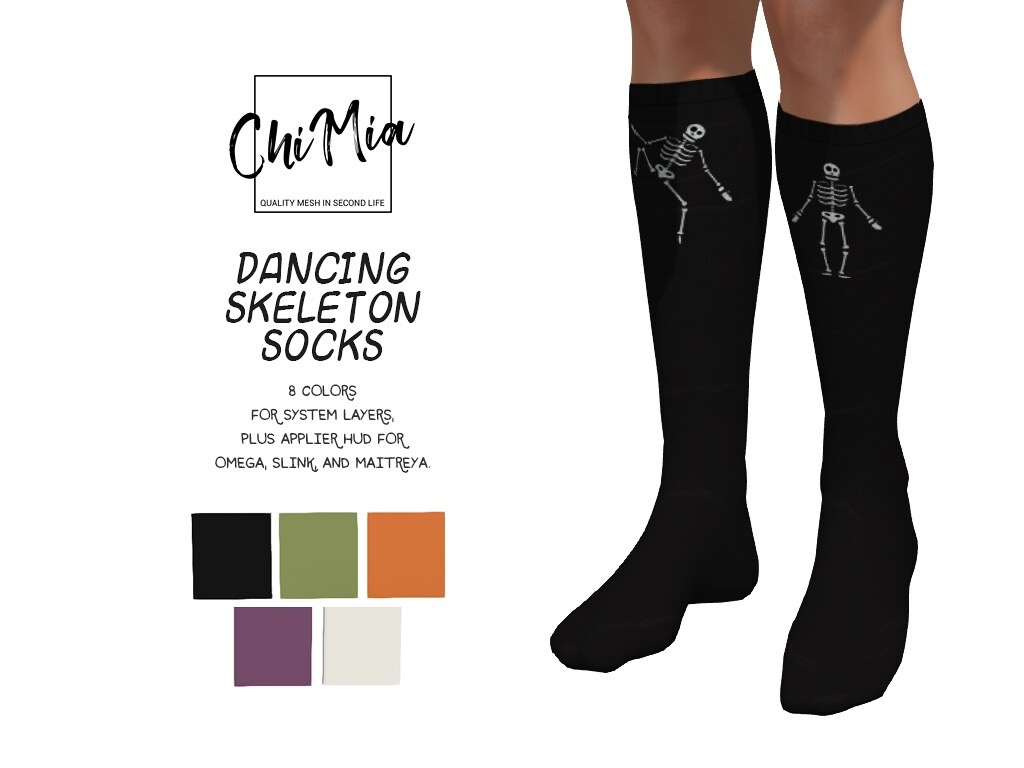 Dancing Skeleton Socks out for The Saturday Sale 13 Oct '18