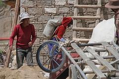 Tibetan  བོད་པ་ workers - Sera Monastery,Tibet