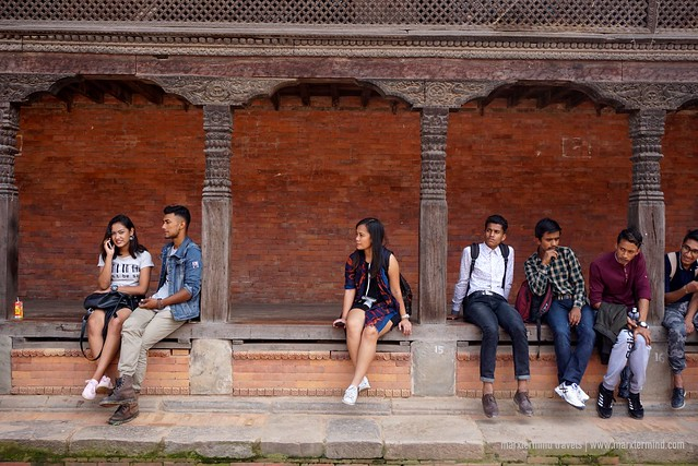 Together with Locals at Bhaktapur Durbar Square