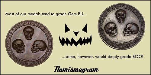 E-Sylum Numismagram ad15 Halloween