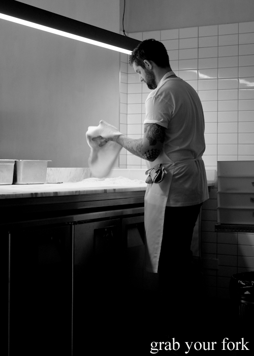 Luke Powell making pizza at Bella Brutta Pizza in Newtown