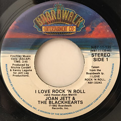 JOAN JETT & THE BLACKHEARTS:I LOVE ROCK 'N ROLL(LABEL SIDE-A)