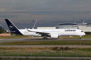 F-WZGA Airbus A350 Lufthansa. New livery