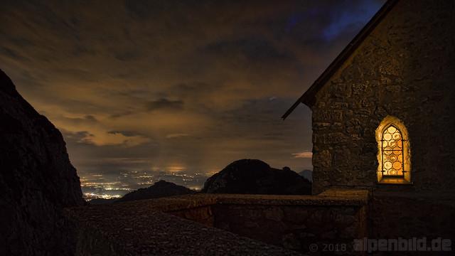 Wendelsteinkircherl bei Nacht