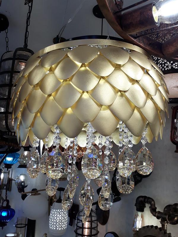 Honeycomb chandelier