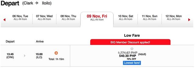 AirAsia Seat Sale Clark to Iloilo