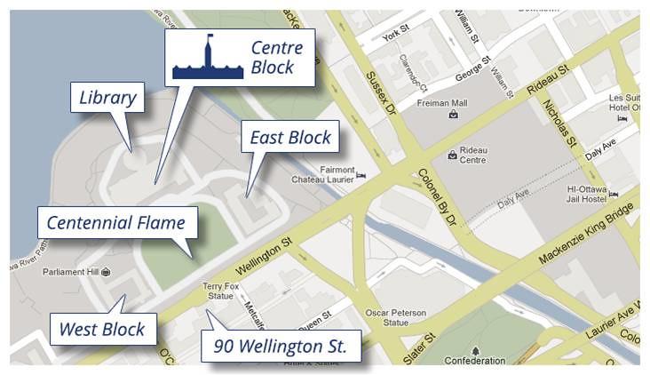 Ottawa Parliament MAP 1