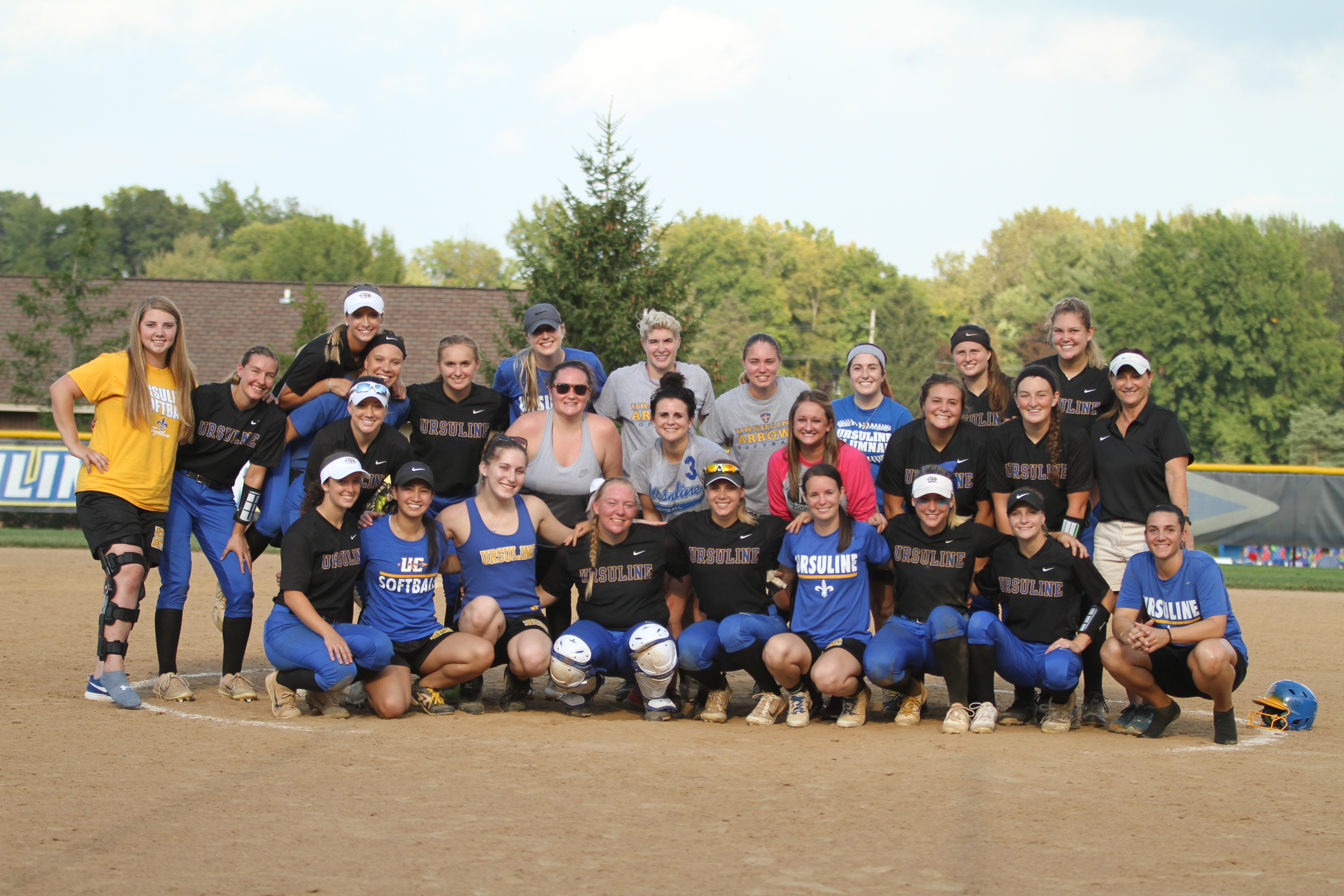 Current Softball Players with Alumnae