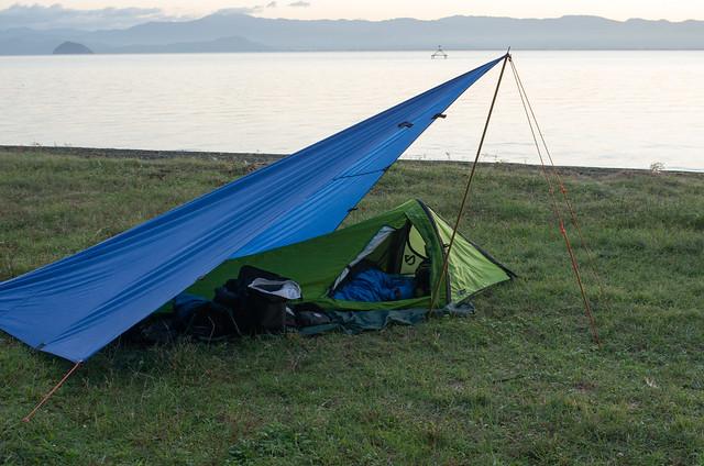 琵琶湖でキャンプ