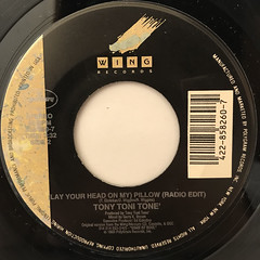 TONY TONI TONE':(LAY YOUR HEAD ON MY)PILLOW(LABEL SIDE-A)