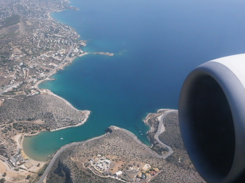 flying into Athens