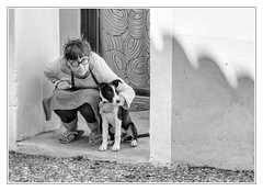 Me and my dog - Photo of La Bastide-d'Engras