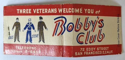 BOBBY'S CLUB SAN FRANCISCO CALIF
