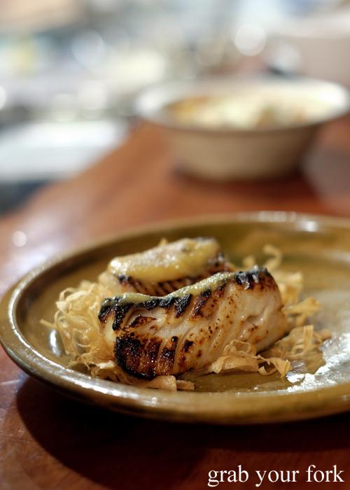 Codfish saikyo miso at Gogyo by Ippudo in Surry Hills Sydney