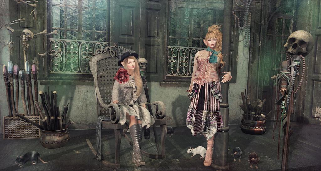 Voodoo Shoppe | On both of us : Dresses, flower, scarf : gO