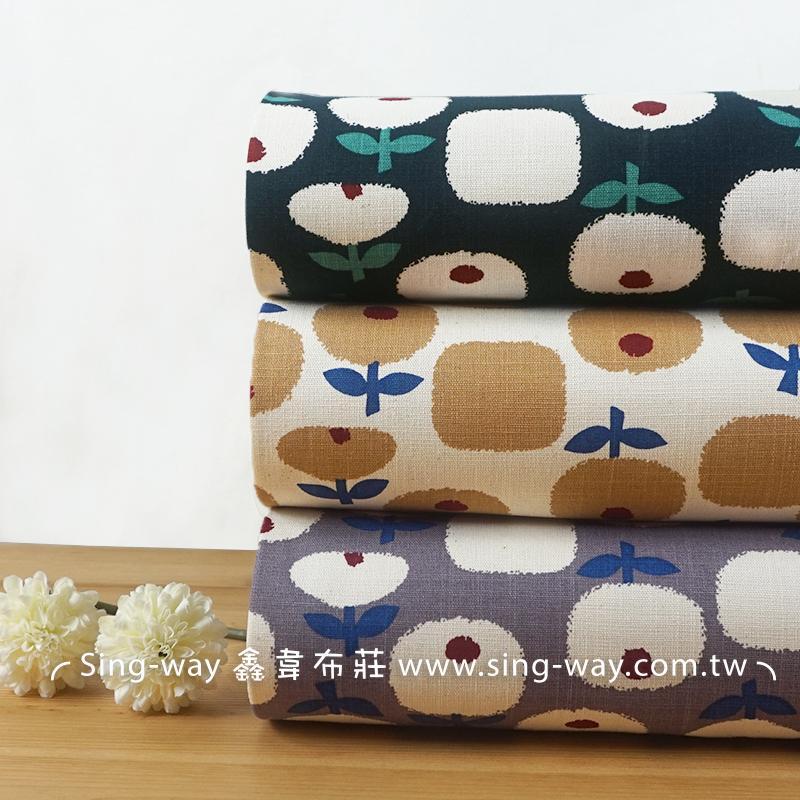 蘋果花 少女風 植物 花朵 重複圖案 束口袋 手工藝DIY布料 CF550713