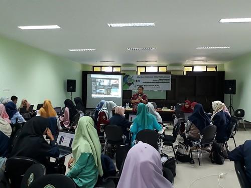Pelatihan Perancangan dan pembuatan media pembelajaran di IAIN Syaikh Abdurrahman Siddik Bangka Belitung. 1 November 2018.