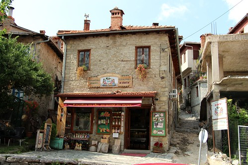 greece metsovo town village pindus mountains unesco zagori heritahe stone building architecture shop street historical museum folklore attraction view