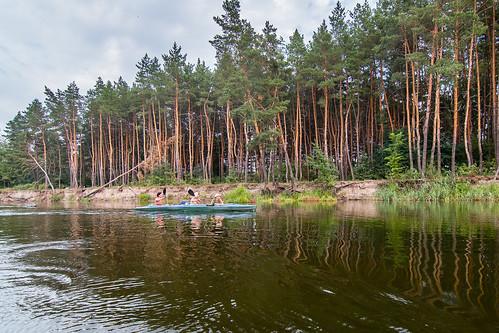 vorskla summer ukraine travel nature water trip boat forest art