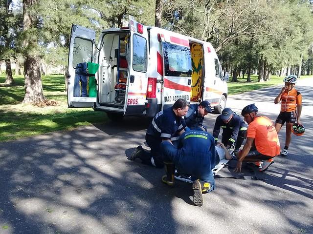 Se accidentó la Campeona Argentina Juvenil de ciclismo Valentina Luna