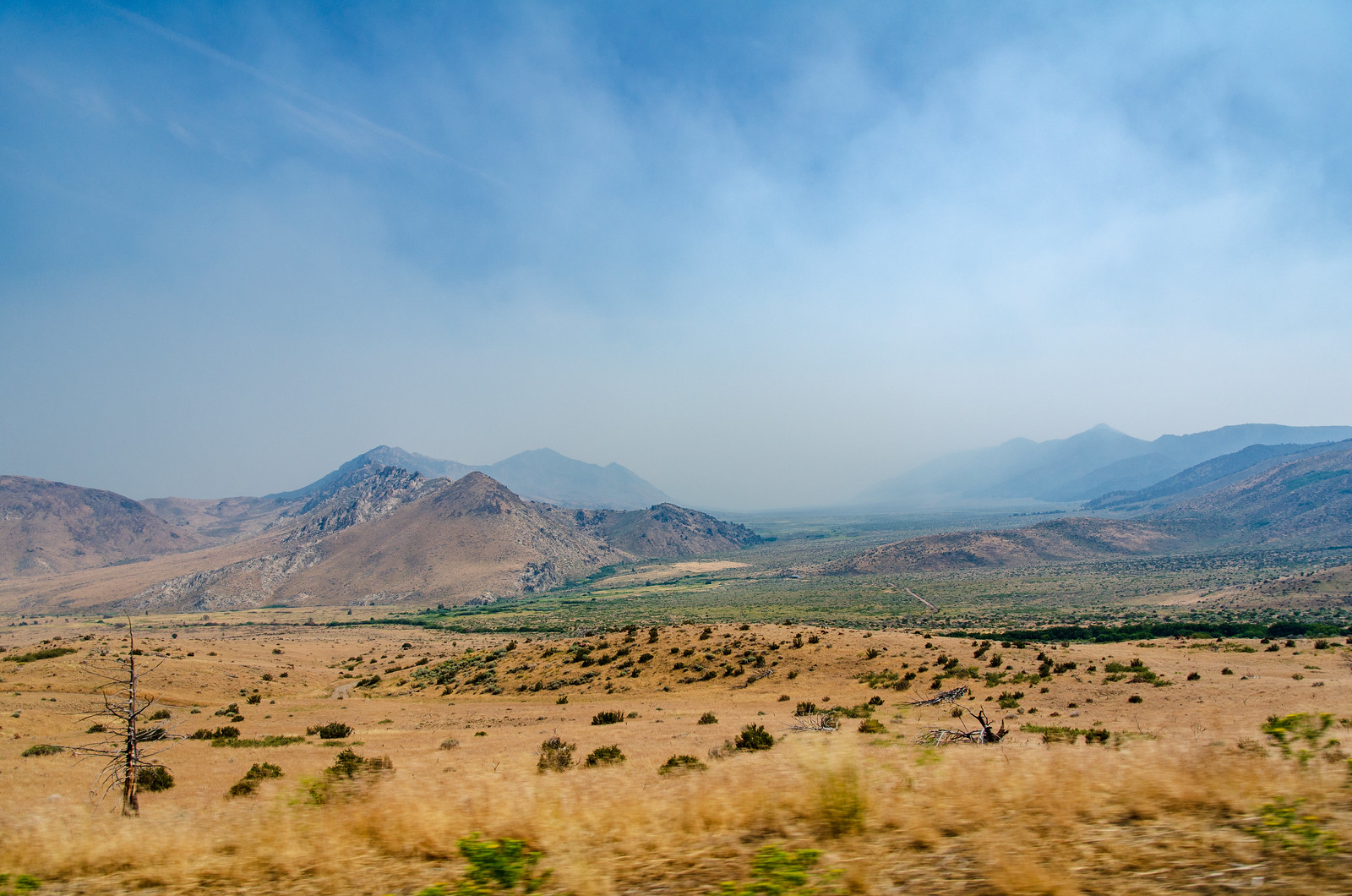 Route to Mammoth Lakes - California