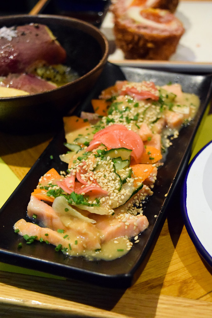 Salmon Kake-ae at Nanban, Brixton