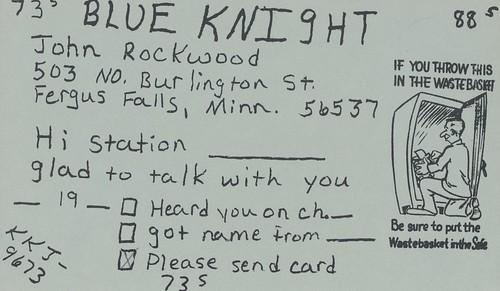 Blue Knight - Fergus Falls, Minnesota