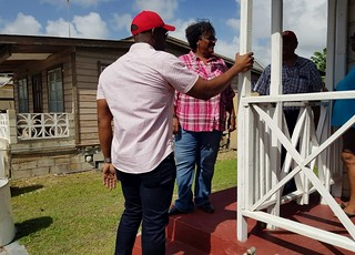 Prime Minister Mia Amor Mottley tours flooded areas  following TS Kirk  (4) | by barbadosgovernmentinformationservice