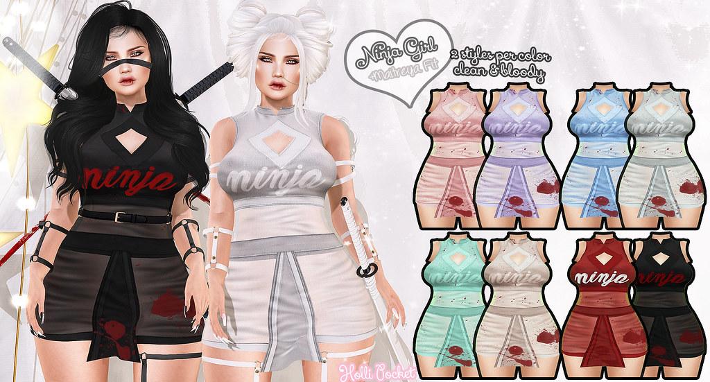 HolliPocket-Ninja Girl Outfit Ad