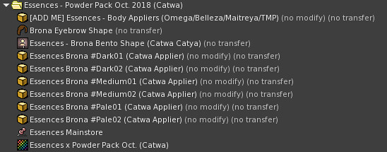 Powder Pack Catwa October 2018