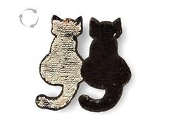 Wechsel Pailletten Applikation, CATS black