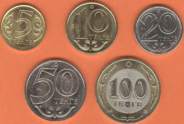Kazachstan 5-10-20-50-100 Tenge 2007-2017