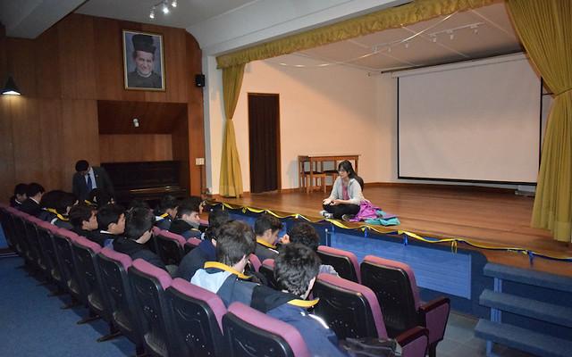 Pastoral Universitaria ofrece charla a estudiantes de 4° medios