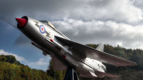 Lightning jet fighter, Castle Air, Cornwall (Explored)