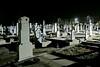 Auf dem durchgehend beleuchteten Neugässer Friedhof an Allerheiligen um 4 Uhr morgens