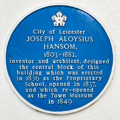 Photo of Joseph Hansom blue plaque