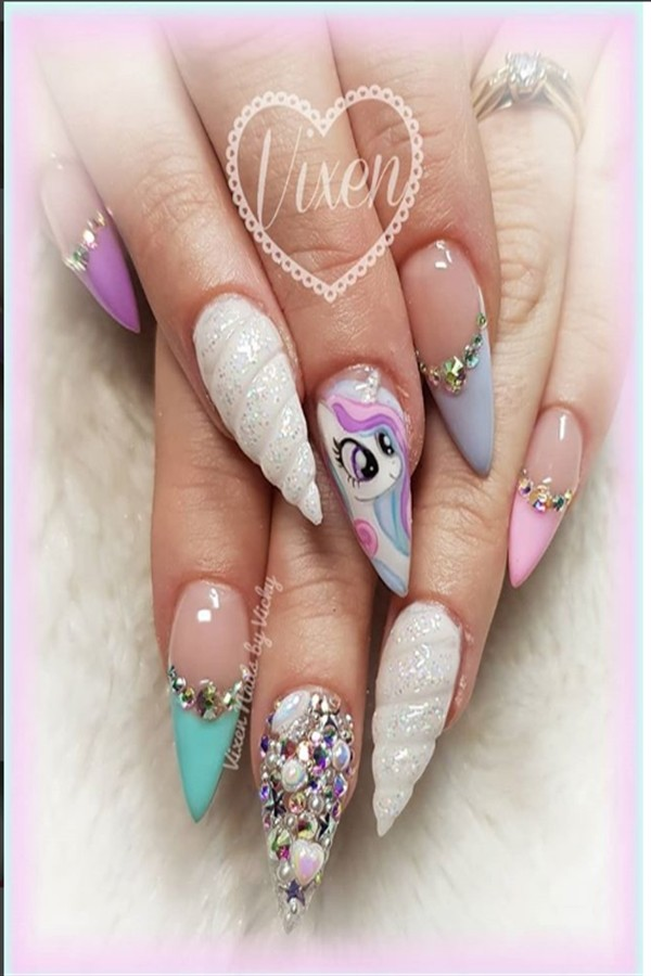 Top 25 Amazing Unicorn Nail Art Designs trendy ideas   #fashonails #nail_art_design #unicorn_nails