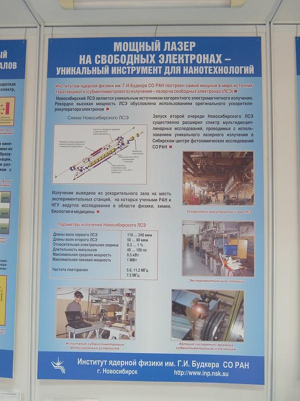 Новосибирский академгородок - Выставочный центр СО РАН - Стенд института ядерной физики