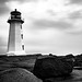 Canadian Lighthouse on a Rainy Morning by Just Used Pixels