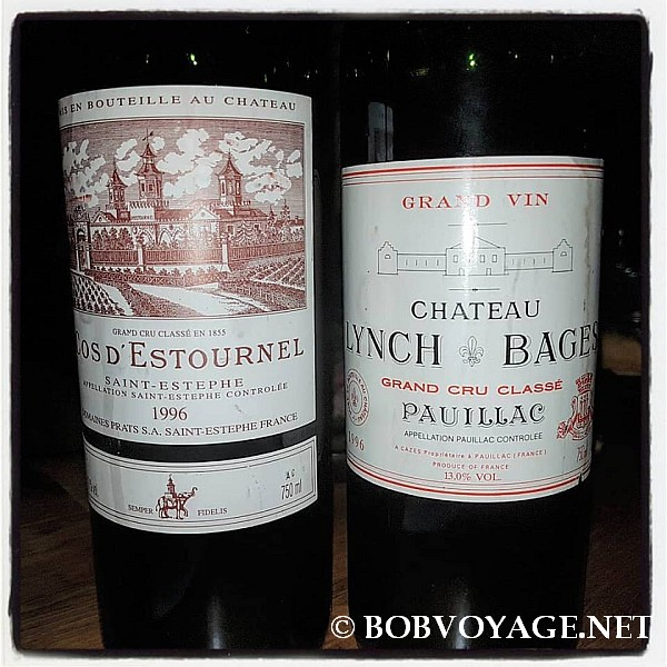 Chateau Lynch Bages 1996 ו- Cos d'Estournel 1996