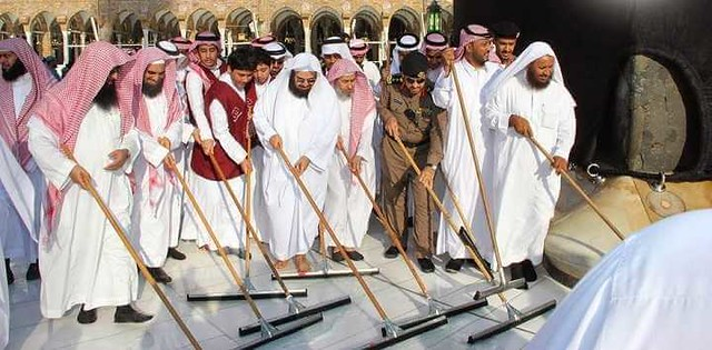 4754 The Grand Mosque hires 85 Saudis to work as Cleaners 04