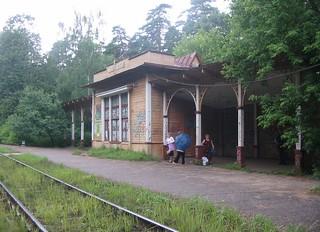 Ilinskoye 1920s wood station building. Destroyed in 2012.