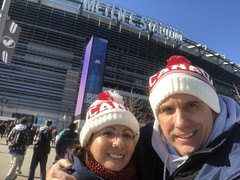 Despite a slight cold, we went to the New York Jets game