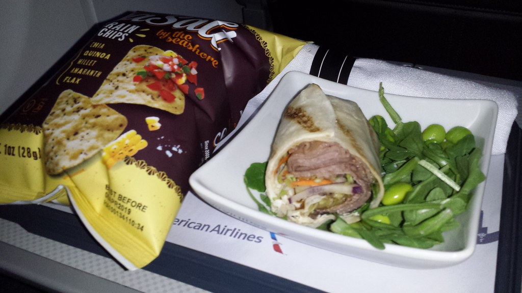 "American Airlines' ""Korean barbecue"" wrap"