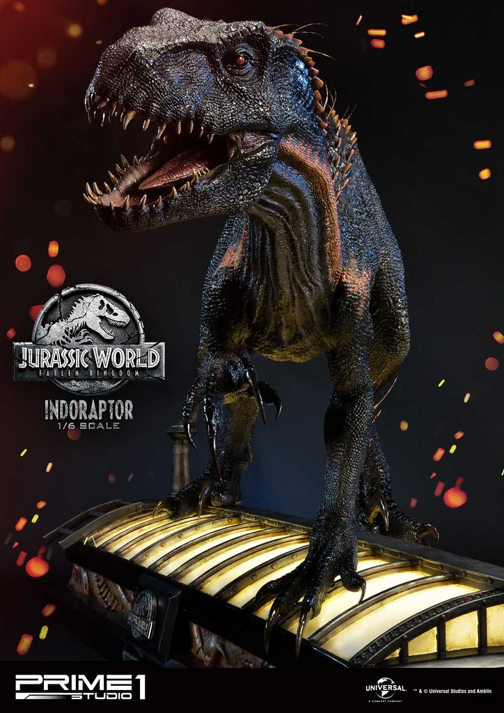 A Ghostly Figure Approaches... It's the Indoraptor LMCJW2-03 1/6 Scale Statue by Prime 1 Studio!